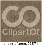 Royalty Free RF Clipart Illustration Of A Scratchy Grungy Brown Texture Background