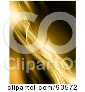 Royalty Free RF Clipart Illustration Of A Background Of Curvy Diagonal Golden Mesh Waves