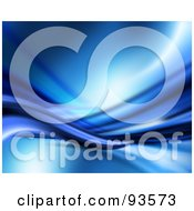 Royalty Free RF Clipart Illustration Of A Blue Abstract Background Of Waves Flowing Horizontally
