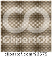 Royalty Free RF Clipart Illustration Of A Textured Background Of Tan Basket Weaving by KJ Pargeter
