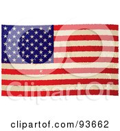 Royalty Free RF Clipart Illustration Of A Distressed Aged USA Flag by michaeltravers