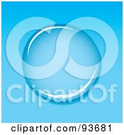 Royalty Free RF Clipart Illustration Of A Clear Water Droplet Reflecting Light On Blue