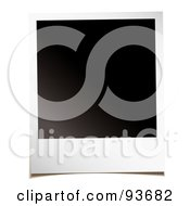 Royalty Free RF Clipart Illustration Of A Blank Black Space On A Polaroid Picture by michaeltravers