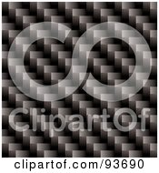 Royalty Free RF Clipart Illustration Of A Cross Weave Carbon Fiber Background by michaeltravers