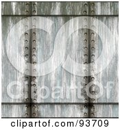 Royalty Free RF Clipart Illustration Of Vertical Lines Of Rivets Through Metal