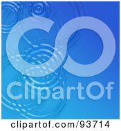 Royalty Free RF Clipart Illustration Of A Background Of Circular Ripples On Light Blue Water