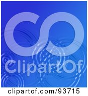 Royalty Free RF Clipart Illustration Of A Background Of Circular Ripples On Dark Blue Water