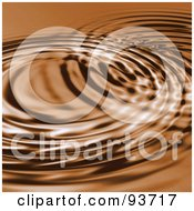 Royalty Free RF Clipart Illustration Of A Brown Background Of Circular Rippes