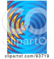 Royalty Free RF Clipart Illustration Of A Centered Circular Blue Ripple Background