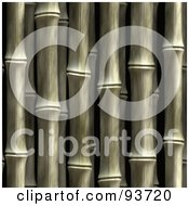 Royalty Free RF Clipart Illustration Of A Seamless Vertical Bamboo Background