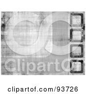 Royalty Free RF Clipart Illustration Of A Grungy Gray Background With Curves And Squares