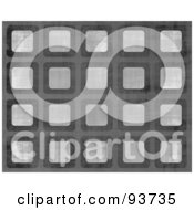 Royalty Free Clipart Illustration Of A Background Of Rounded Squares Of Grunge Over Gray