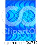 Royalty Free Clipart Illustration Of A Vertical Background Of Wavy Blue Flames