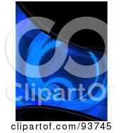 Royalty Free Clipart Illustration Of A Blue Fractal Tunnel Swoosh Over Black