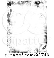Royalty Free Clipart Illustration Of A White Background With A Border Of Grungy Black Marks