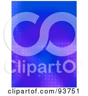 Royalty Free Clipart Illustration Of A Blue Background With Purple Halftone Dots