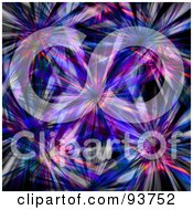 Royalty Free Clipart Illustration Of A Background Of Pink Purple And Blue Bursts