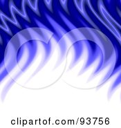 Royalty Free Clipart Illustration Of A Background Of White And Blue Flame Waves