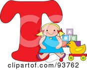 Royalty Free RF Clipart Illustration Of A T Is For Toys Learn The Alphabet Scene by Maria Bell