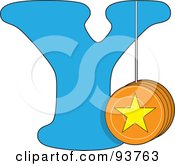 Royalty Free RF Clipart Illustration Of A Y Is For Yo Yo Learn The Alphabet Scene by Maria Bell