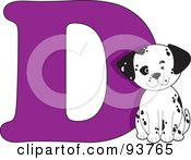 Royalty Free RF Clipart Illustration Of A D Is For Dog Learn The Alphabet Scene by Maria Bell
