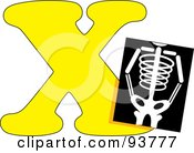 Royalty Free RF Clipart Illustration Of A X Is For Xray Learn The Alphabet Scene by Maria Bell