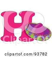 Royalty Free RF Clipart Illustration Of A H Is For Hat Learn The Alphabet Scene