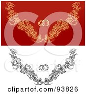 Digital Collage Of Weddig Design Elements 2