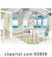 Royalty Free RF Clipart Illustration Of A Modern Home Interior Layout 4 by toonster