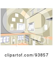 Royalty Free RF Clipart Illustration Of A Modern Home Interior Layout 2 by toonster