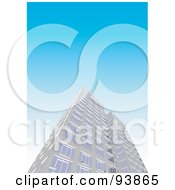 Royalty Free RF Clipart Illustration Of A Skyscraper Exterior Over Blue 1 by toonster
