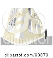 Royalty Free RF Clipart Illustration Of A Building Exterior 17 by toonster