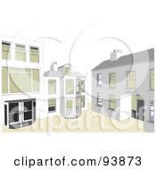 Royalty Free RF Clipart Illustration Of A Building Exterior 11 by toonster
