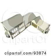 Royalty Free RF Clipart Illustration Of A Building Exterior 8 by toonster
