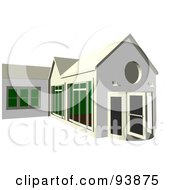 Royalty Free RF Clipart Illustration Of A Building Exterior 7 by toonster