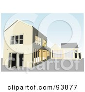 Royalty Free RF Clipart Illustration Of A Building Exterior 12 by toonster