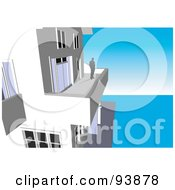 Royalty Free RF Clipart Illustration Of A Building Exterior 2 by toonster