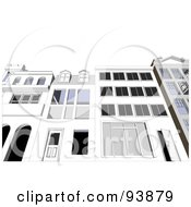 Royalty Free RF Clipart Illustration Of A Building Exterior 9 by toonster