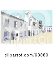 Royalty Free RF Clipart Illustration Of A Building Exterior 6 by toonster