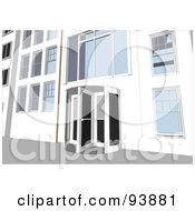 Royalty Free RF Clipart Illustration Of A Building Exterior 5 by toonster
