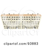 Royalty Free RF Clipart Illustration Of A Building Exterior 15 by toonster