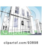 Royalty Free RF Clipart Illustration Of A Building Exterior 4 by toonster