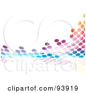 Royalty Free RF Clipart Illustration Of A Colorful Halftone Dot Equalizer Background On White 2 by Arena Creative