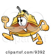 Hard Hat Mascot Cartoon Character Running by Toons4Biz