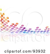 Royalty Free RF Clipart Illustration Of A Colorful Halftone Dot Equalizer Background On White 1 by Arena Creative