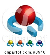 Royalty Free RF Clipart Illustration Of A Digital Collage Of 3d Colorful Power Symbols With Spheres