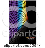 Royalty Free RF Clipart Illustration Of A Background Of Colorful Tiles Over Black With Text Space