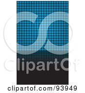 Royalty Free RF Clipart Illustration Of A Blue Square Grid Background