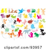 Royalty Free RF Clipart Illustration Of A Digital Collage Of Colorful Bugs And Animals by Alex Bannykh