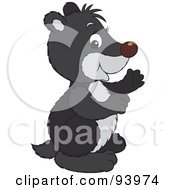 Royalty Free RF Clipart Illustration Of A Cute Black Badger In Profile by Alex Bannykh